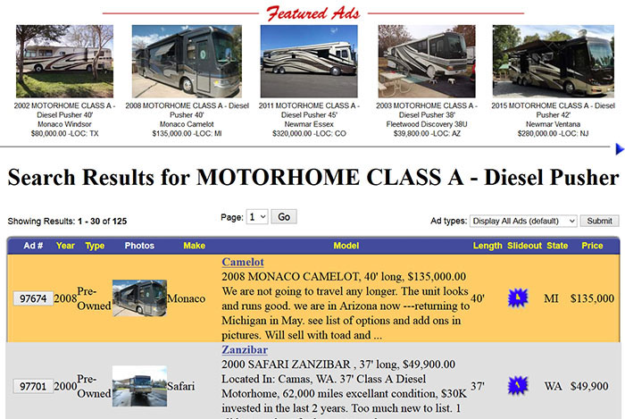 Featured ad Motorhome